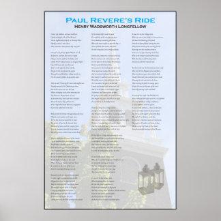 Póster El paseo de medianoche de Paul Revere por