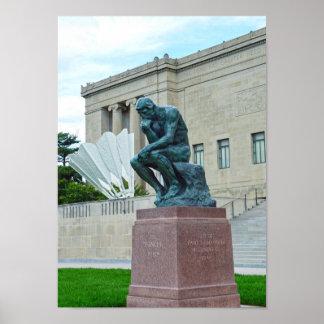 Póster El pensador y el Shuttlecock, Kansas City, MES