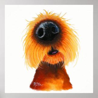 """Póster El perro Nosey """"OLORES tiene gusto de la sol"""" al"""