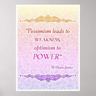 Póster El pesimismo lleva a la debilidad - Quote´s