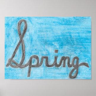 Póster El poster cursivo del texto de la primavera