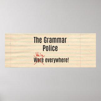 Póster El poster de la policía de la gramática
