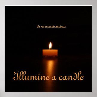 Póster El poster del valor Papel-Illumine una vela