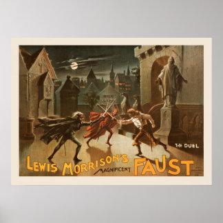 Póster El poster del vintage del duelo