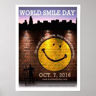 Póster El poster oficial 2016 de Day® de la sonrisa del