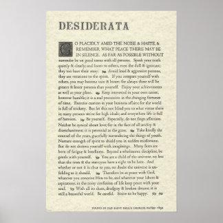 Póster El poster original de los desiderátums por Ehrmann