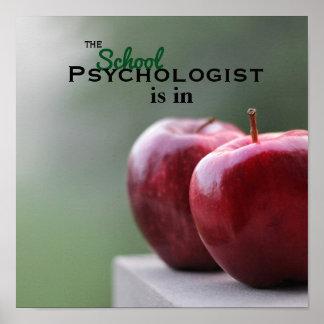 Póster El psicólogo de la escuela está en poster