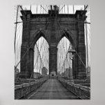 Póster El puente de Brooklyn en New York City