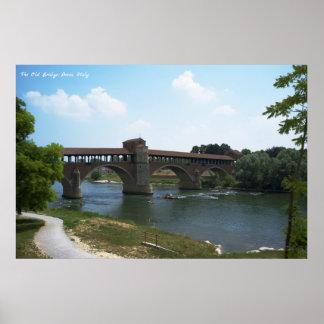 Póster El puente viejo, Pavía, poster