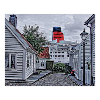Póster El QE2 en Stavanger