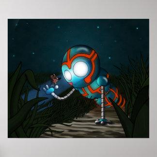 Póster El robot y la mariposa