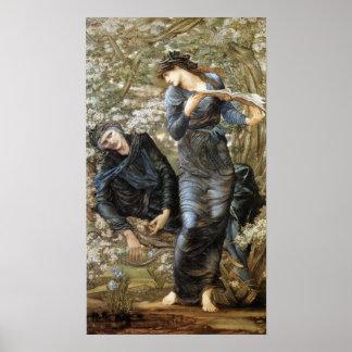 Póster El seducir de Edward Burne-Jones de MERLIN