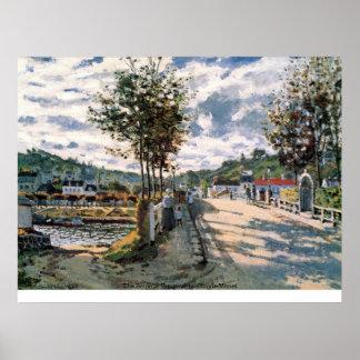 Póster El Sena en Bougival de Claude Monet