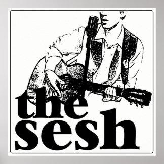 "Póster ""el sesh"" poster blanco (24"" x24"")"