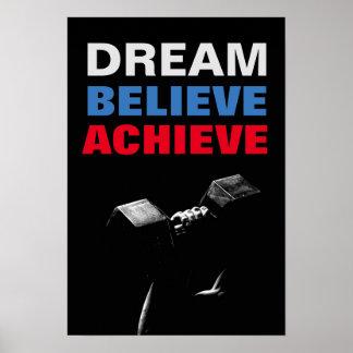 Póster El sueño cree alcanza el Bodybuilding de