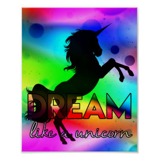 Póster ¡El sueño tiene gusto de un unicornio! - Diseño