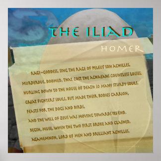 Póster El texto de la imagen de la voluta del Iliad