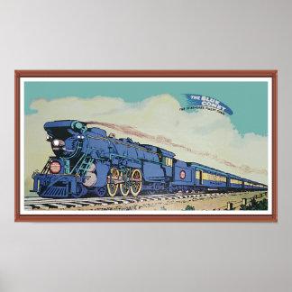 Póster El tren azul central del cometa de New Jersey