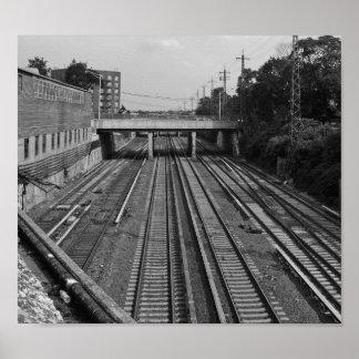Póster El tren sigue el Queens NYC