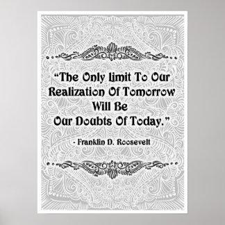 Póster El único límite - Quote´s positivo