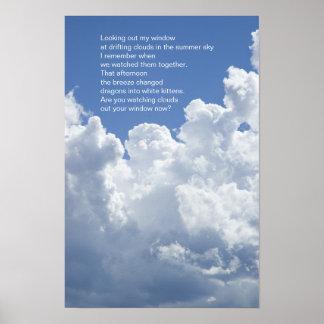 Póster El verano se nubla el poema