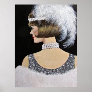Póster Elegancia del vintage, poster