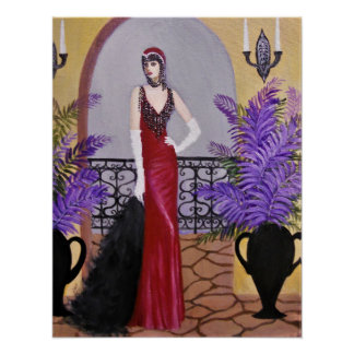 Póster Elegancia en el rojo, poster