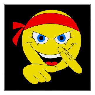 Póster Emoji que lucha