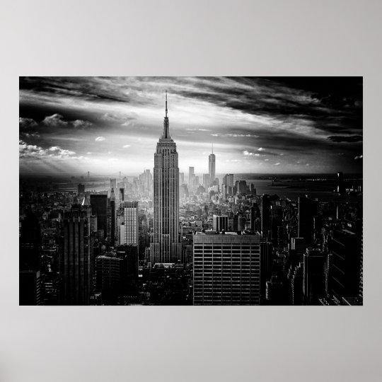 Póster Empire State Building de New York City