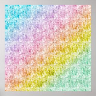 Poster en colores pastel del arco iris