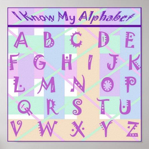 Poster en colores pastel femenino de encargo del a