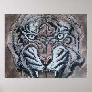 Póster En el tigre del borde