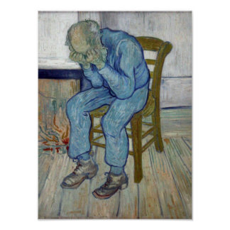 Póster En la puerta de la eternidad de Vincent van Gogh