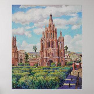 Póster En San Miguel de Allende Print de la plaza