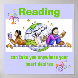 Póster En todo el mundo poster leído de la instrucción