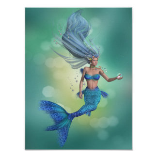 Poster encantado de la sirena