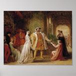 Póster Enrique VIII y Ana Bolena