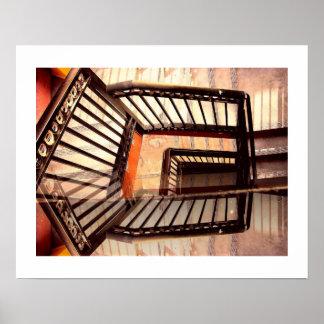 Póster Escaleras de la ilusión óptica