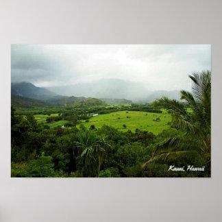 Póster Escena del paisaje de Kauai, Hawaii