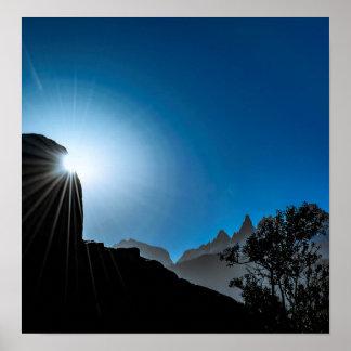 Póster Escena del paisaje de la Patagonia, Aysen, Chile