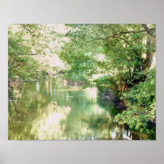 Póster Escena del río de Norfolk