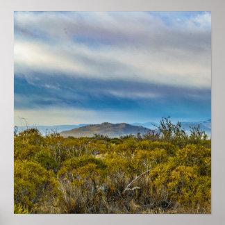 Póster Escena patagona del paisaje, Santa Cruz, la