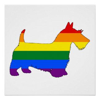 Póster Escocés Terrier del arco iris