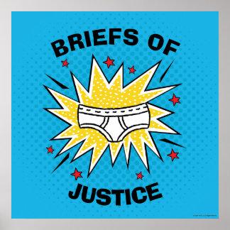 Póster Escritos de capitán Underpants el | de la justicia