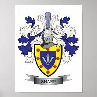 Póster Escudo de armas agudo del escudo de la familia