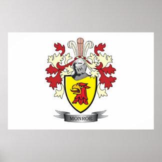 Póster Escudo de armas del escudo de la familia de Monroe