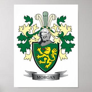 Póster Escudo de armas del escudo de la familia de Morgan