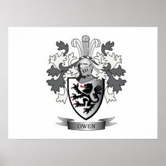 Póster Escudo de armas del escudo de la familia de Owen