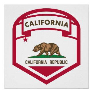 Póster Escudo de la bandera del estado de la república de