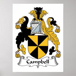 Póster Escudo de la familia de Campbell